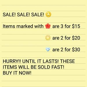 SALE! EASY Steps. Please read...